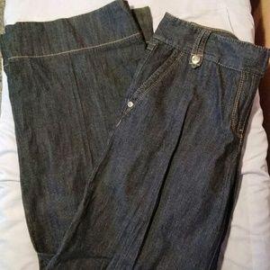 LOFT 6 Wide Leg Blue Jeans